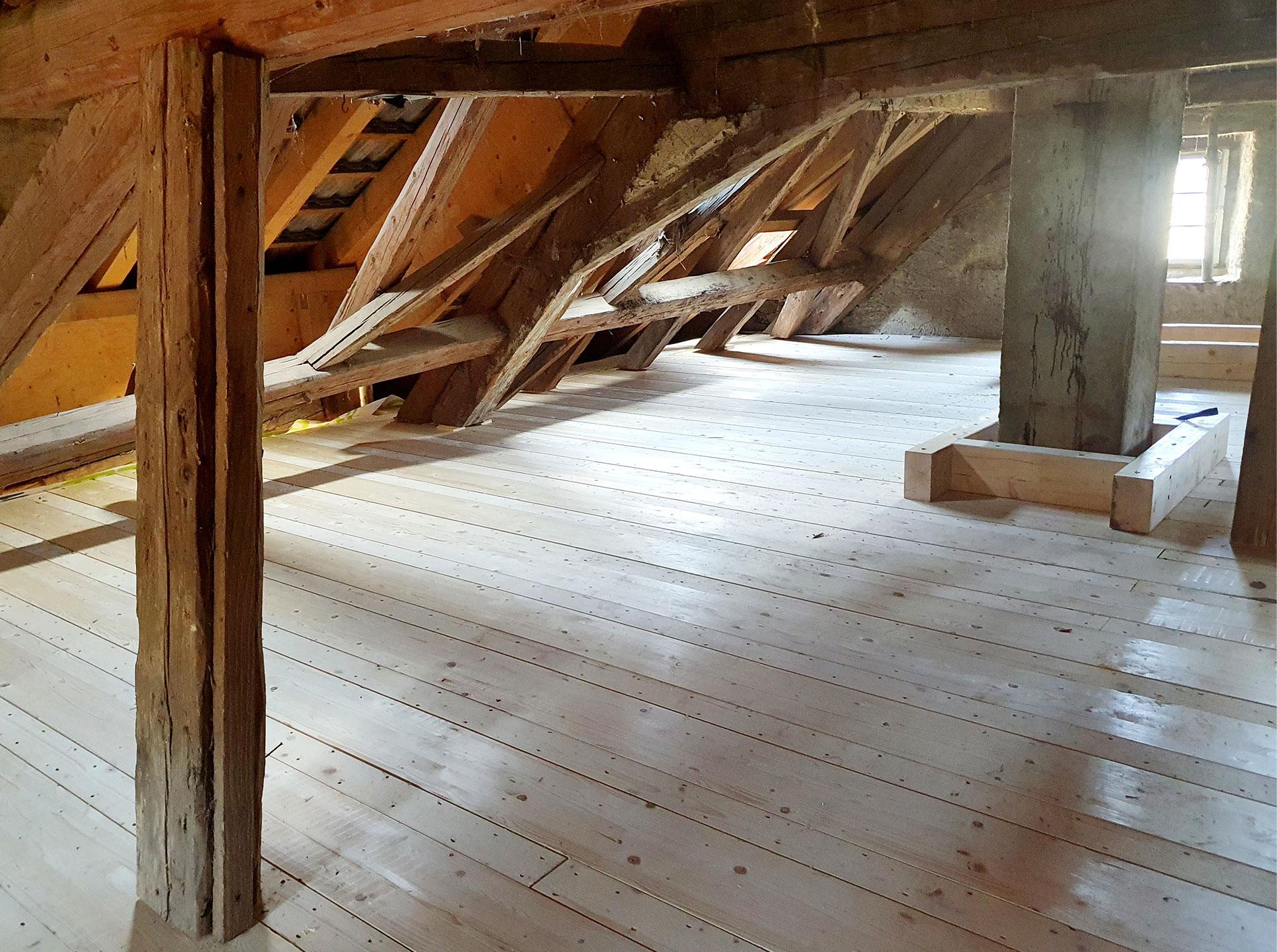 Sanierung eines alten Bauernhauses